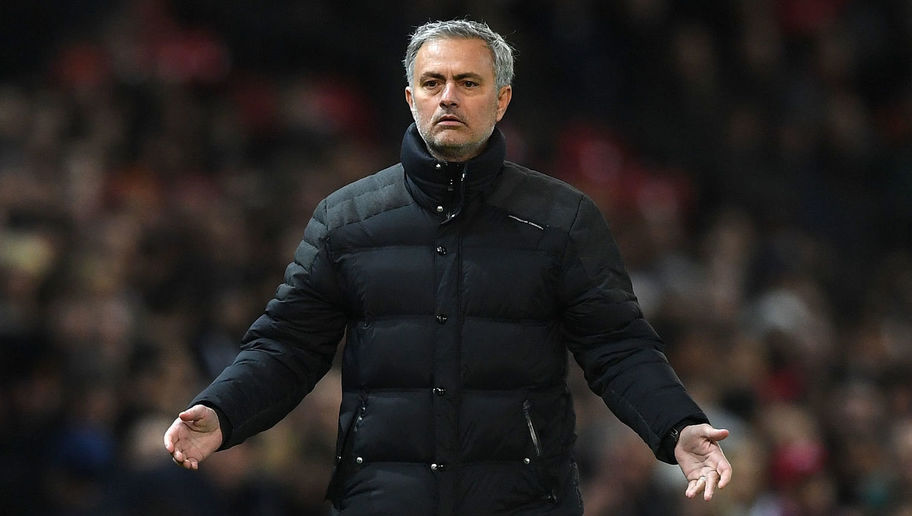 MANCHESTER, ENGLAND - JANUARY 10:  Jose Mourinho, Manager of Manchester United reacts during the EFL Cup Semi-Final First Leg match between Manchester United and Hull City at Old Trafford on January 10, 2017 in Manchester, England.  (Photo by Shaun Botterill/Getty Images)